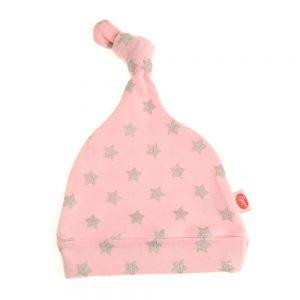 Babys Pink Stars Hat