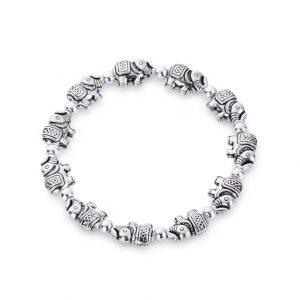 Elephant Bead Stretch Bracelet