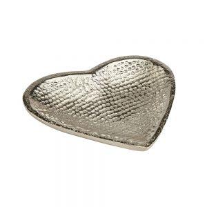 Aluminium Small Heart Dish