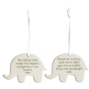 Ceramic Elephant Baby Sign