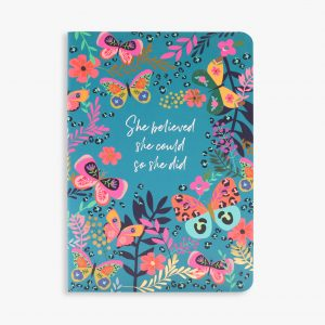 Belly Button Designs 'She Believed She Could So She Did' Notebook