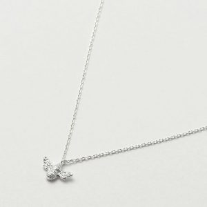 Bee Necklace- Silver Plated