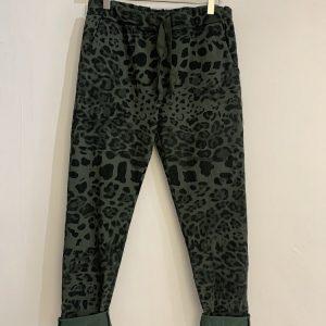 Leopard Joggers in Khaki
