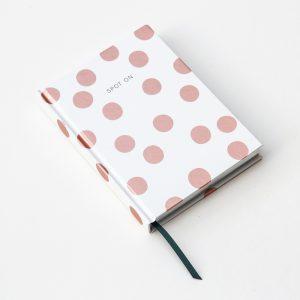 Rose Gold Polka Dot Hardback Notebook
