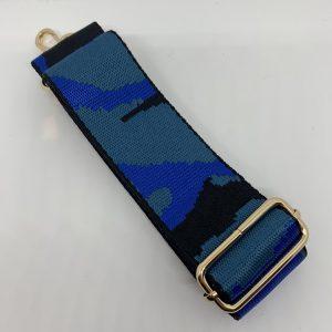 Bag Strap Blue Camo