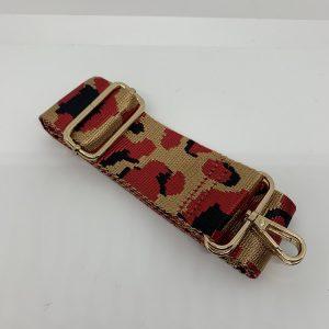 Bag Strap Red Leopard