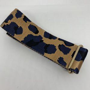 Bag Strap Blue Leopar