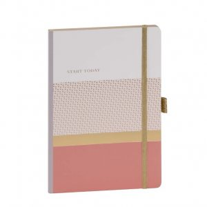 Notebook A5- Pink Striped