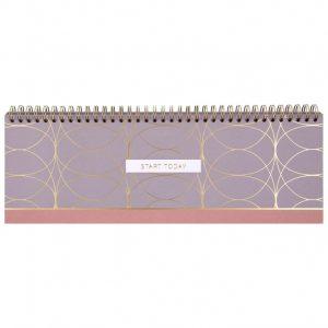 Weekly Desk Planner Shiny Purple 32x11cm