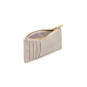 Rectangle Card Purse- Taupe Snake Effect