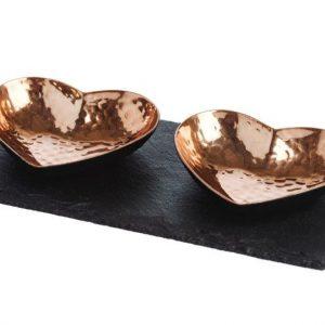 Heart Copper Serving Set