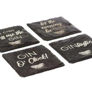 4 Slate Gin Coasters
