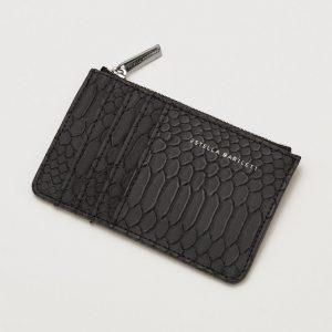 Rectangle Card Purse- Black Snake Effect