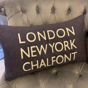 LDN, NY, Chalfont Cushion grey
