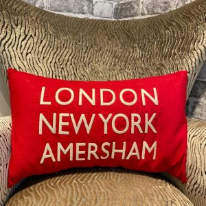 LDN, NY, Amersham Cushion Red