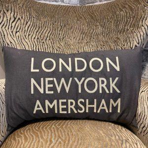 LDN, NY, Amersham Cushion Grey