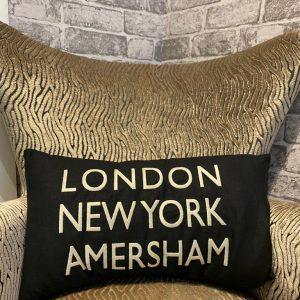 LDN, NY, Amersham Cushion Black