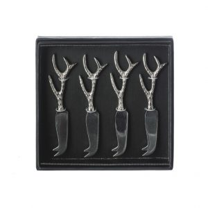 Antler Cheese Knives Set of 4