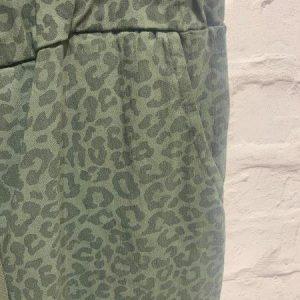 Khaki leopard stretchy joggers