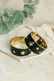 Navy multi star enamel bangle