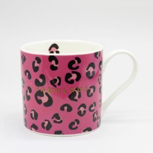 Belly Button Designs Pink ,Leopard and Fabulous Mug