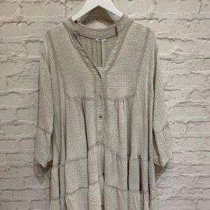 Boho Tiered dress in Pale Grey