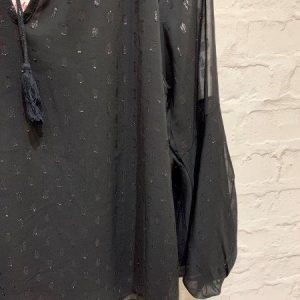 Black with a Touch of Sparkle Floaty Blouse