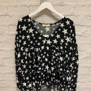 Black Starstruck Blouse