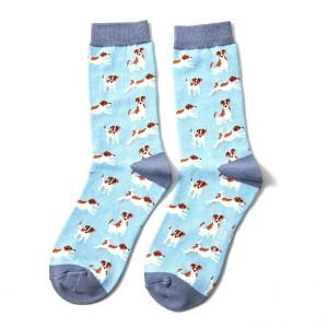 Leaping Jack Russell Bamboo Socks