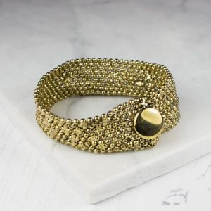 Gold narrow cuff