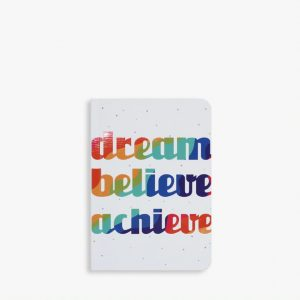 Belly Button Designs Rainbow Text Notebook small