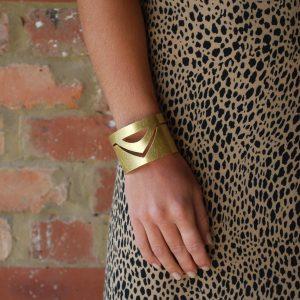Cut out gold cuff