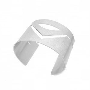 Cut out silver cuff