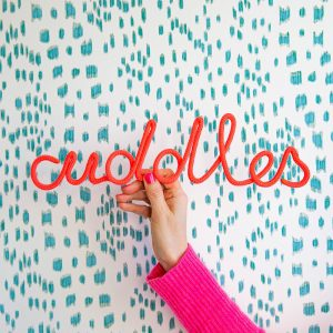 Cuddles Rope Word Fushcia