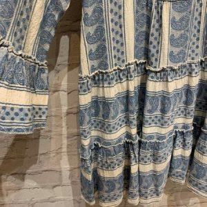 Blue and White Grecian Dress