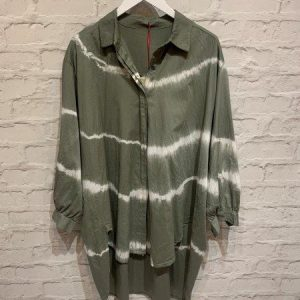 Khaki Oversized Tiedye Shirt