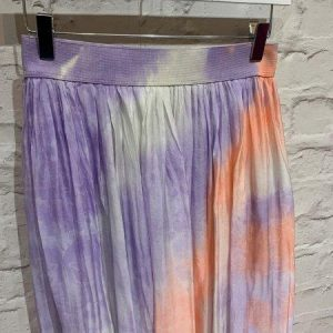 Lilac silk tie dye skirt