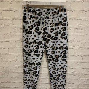 Leopard joggers in grey