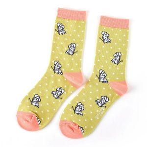 Butterflies Socks Lime