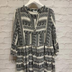 Black & white grecian dress