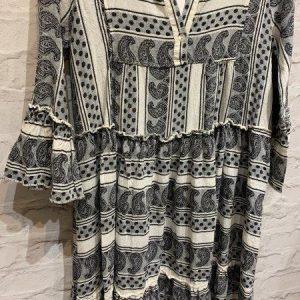 Black & white grecian style maxi dress