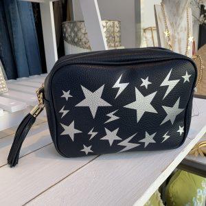 Crossbody bag navy with stars