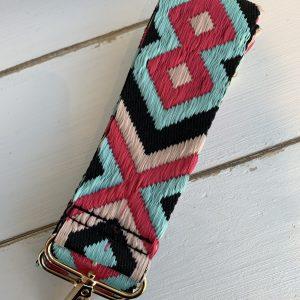 Bag strap Aztec pink