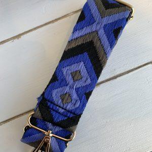 Bag strap Aztec blue