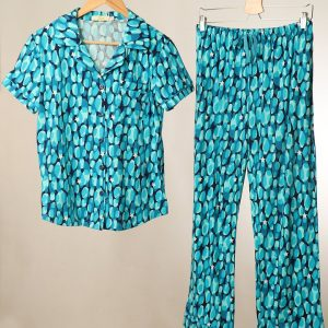 Turquoise star & camouflage pjs