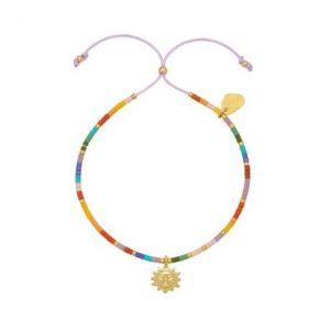 Estella Bartlett beaded rainbow sun charm louise bracelet