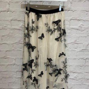Butterfly tulle skirt in cream & black