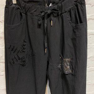 Black star magic trousers