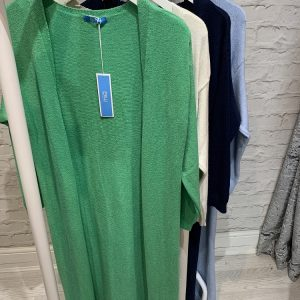 Longline cardigans in 4x colours