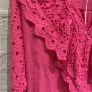Pink broderie anglaise top
